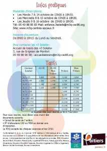 Plaquette Automne 2014 infos pratiques