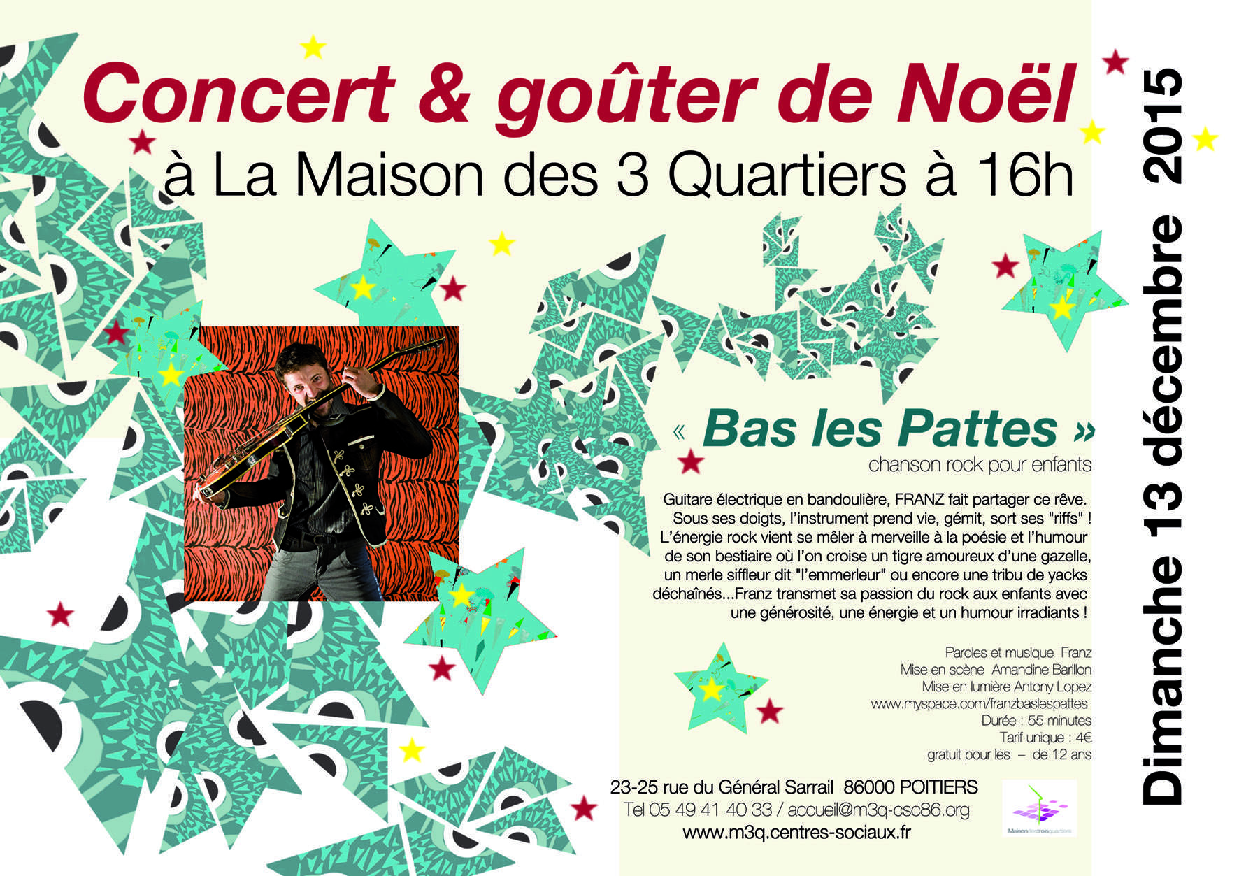 Dimanche 13 décembre à 16h / Concert de Noël